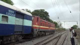 GIANT & IMPRESSIVE 5000HP WAP-4 LOCOMOTIVE SUPERBLY ACCELERATING WITH 24 COACH RANAKPUR EXPRESS