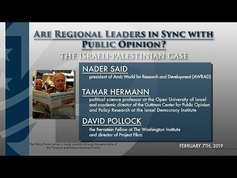 Are Regional Leaders in Sync with Public Opinion? The Israeli-Palestinian Case