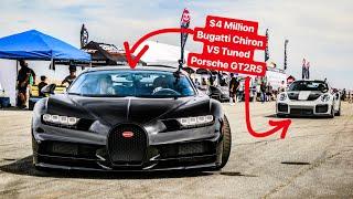 RACING A $4 MILLION BUGATTI CHIRON VS 1000 HP PORSCHE GT2RS! *SHIFT S3CTOR HALF MILE*