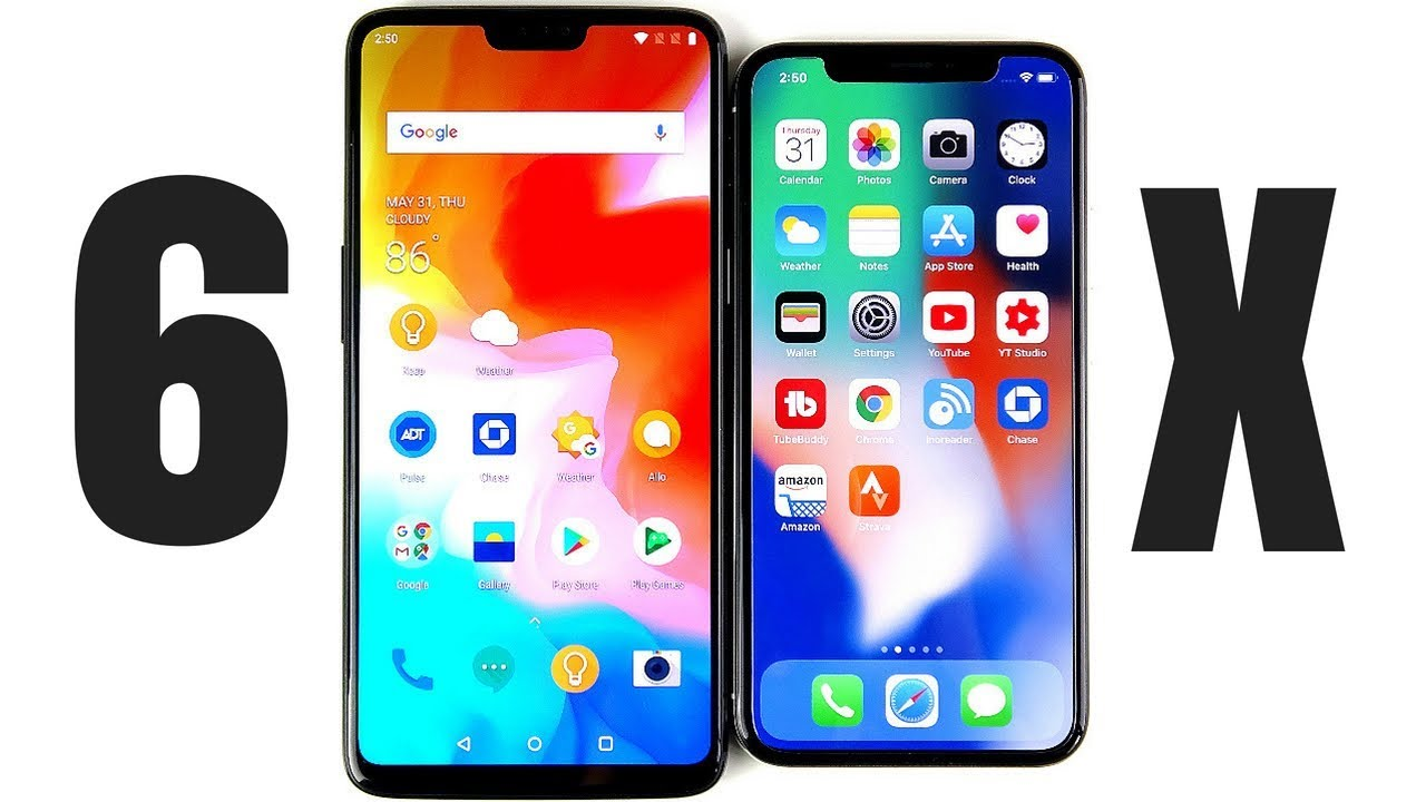 OnePlus 6 vs iPhone X Full Comparison! Video