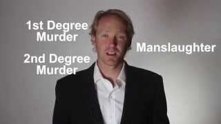 Explained: 1st degree murder, 2nd degree murder, and manslaughter?