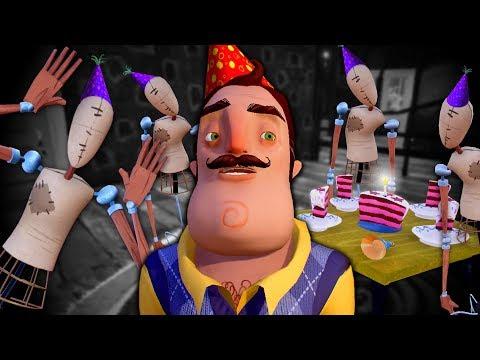 HAPPY BIRTHDAY NEIGHBOR - All Cake and Mannequin Locations - Hello Neighbor BETA 3