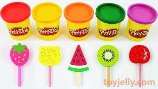 Toy Ice Cream Play Doh Popsicles Learn Colors & Fruits Kinder Joy fun Nursery Rhymes Baby songs