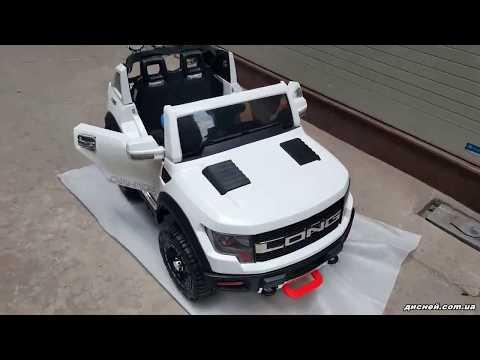 Детский электромобиль Джип M 3579 EBLR-2 Ford Long, мягкое сиденье, черный - дисней.com.ua