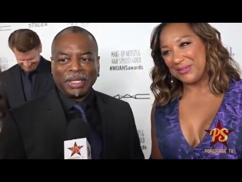 Actor LeVar Burton and Wife Makeup Artist Extraordinaire Stephanie Cozart of