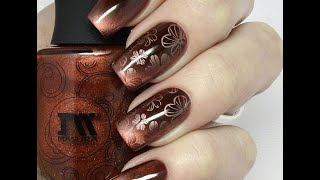Стемпинг дизайн магнитным лаком MASURA / Stamping Nail Art with MASURA Magnetic Nail Polish(Стемпинг дизайн магнитным лаком MASURA