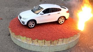 EXPERIMENT: 100 000 MATCHES VS BMW X6 toy