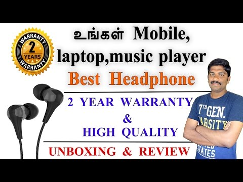 Best headphone with 2 year warranty unboxing & review - Tamil Tech loud oli