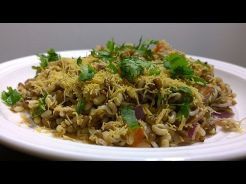Matki Bhel - Sprouts Bhel - Healthy Chat Item - Sprouts Recipe