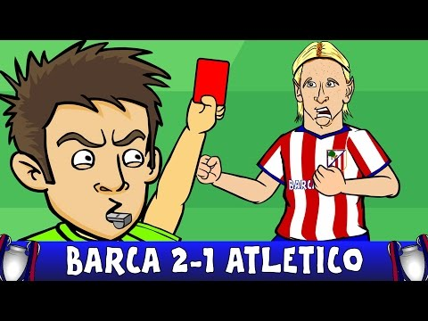 Barcelona vs Atletico Madrid 2-1 - Fernando Torres red card! (Champions League Highlights 2016)