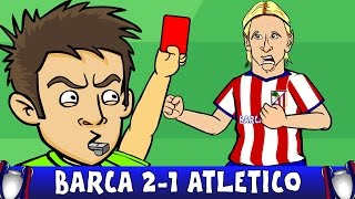 Barcelona vs Atletico Madrid 2-1 - Fernando Torres red card! (Champions League Highlights 2016)(Luis Suarez goals, kick on Juanfran and push on Felipe Luis! ⚽️Subscribe to 442oons: http://bit.ly/442oonsSUB⚽   CROWDSCORES: ▻iOS ..., 2016-04-06T05:11:35.000Z)
