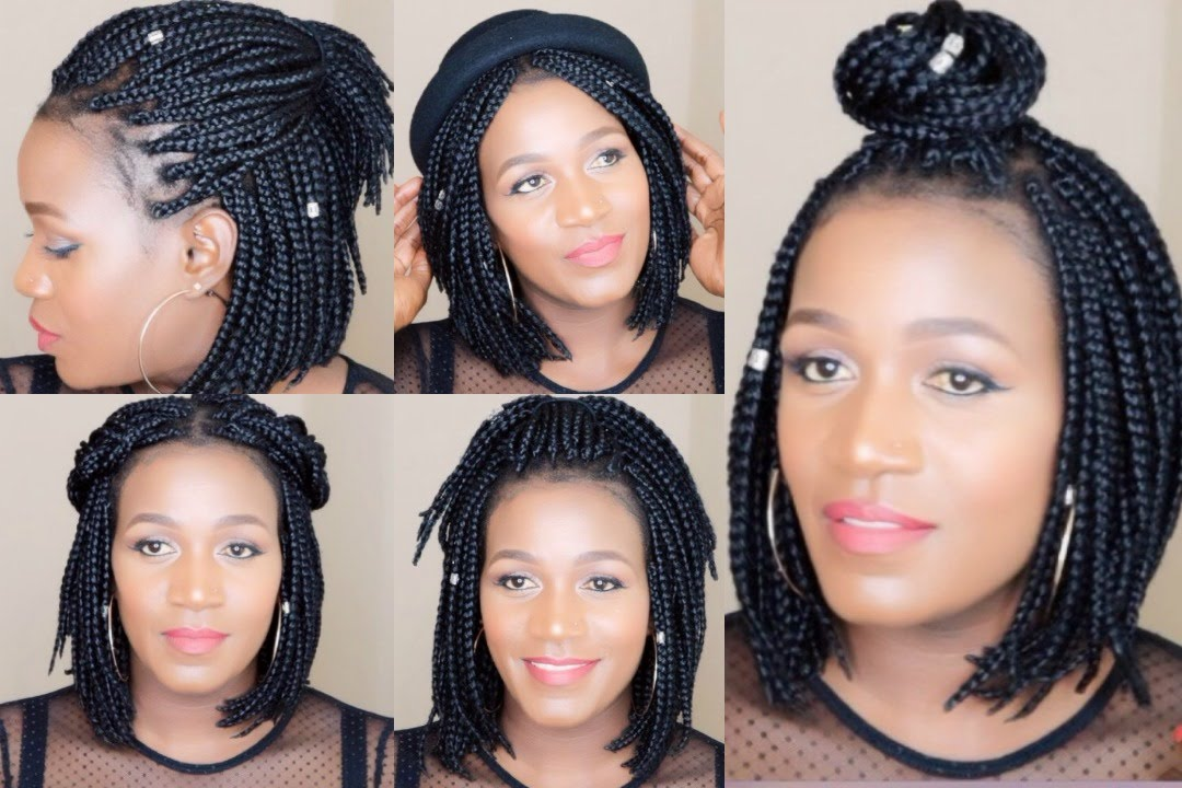 How To  Style Bob Braids - YouTube