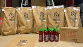 Sriracha Bottles Disguised 900 Pounds of Crystal Meth: Cops