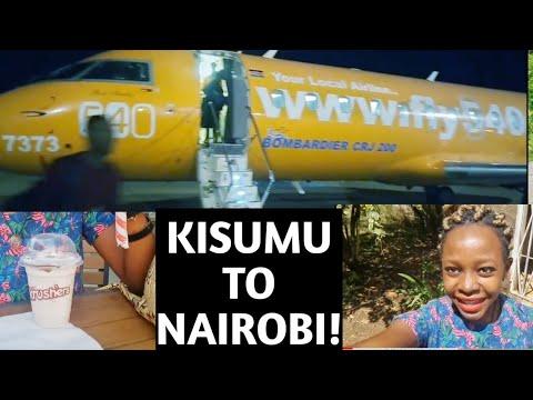 FLY 540 WITH ME TO NAIROBI FROM KISUMU, KENYA!!! / TRAVEL VLOG