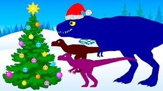 Веселые Динозаврики Новый Год | Новогодний Мультик про Динозавров. Динозавры Мультфильм на русском