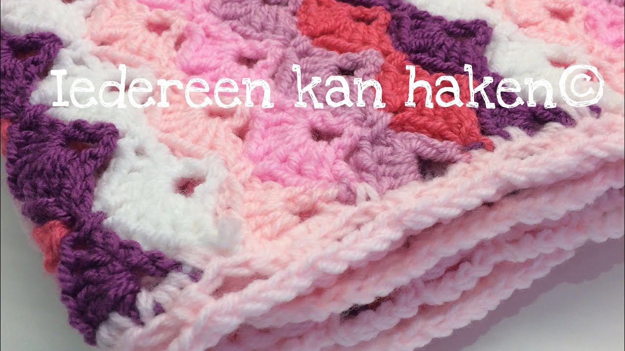 Iedereen Kan Haken Rand Om Baby Blanket Deken Different