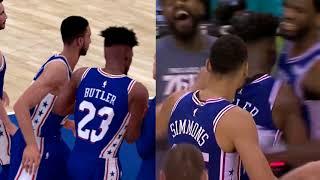 NBA 2K19 vs IRL - Jimmy Butler Game Winner