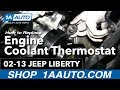 How To Install Replace Engine Coolant Thermostat and Housing 3.7L 2002-2013 Jeep Liberty