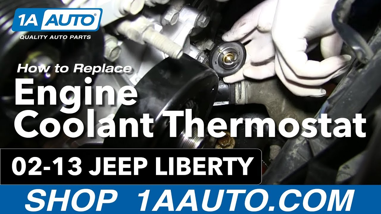 How To Install Replace Engine Coolant Thermostat and Housing 37L 20022013 Jeep Liberty  YouTube