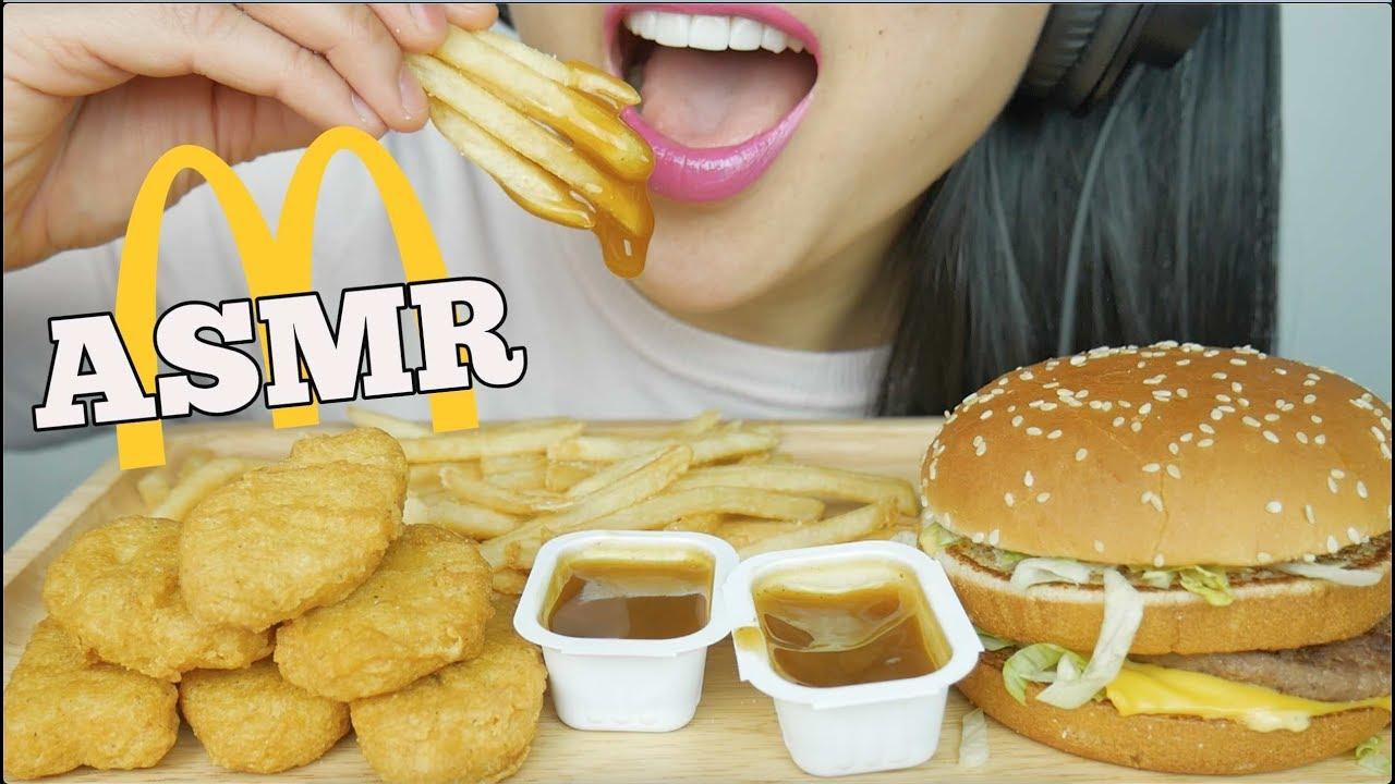 ASMR McDonalds *Chicken NUGGETS + BIG Mac (EATING SOUNDS) | SAS-ASMR