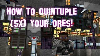 Minecraft - Ore Quintupling (5x) - Mekanism Mod Tutorial