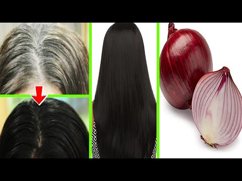 White Hair To Black Hair Naturally in Just 4 Minutes Permanently