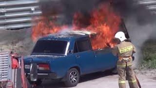 Gambar cover Пожар на парковке или как Горит автомобиль Жесть