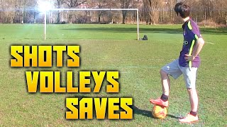 Insane football shots, volleys and saves!!!