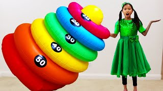 Wendy and Alex Pretend Play with Giant Colors Changing Machine Toy