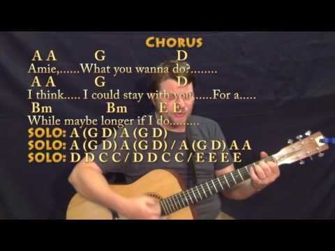 Amie (Pure Prairie League) Strum Guitar Cover Lesson in A with Chords/Lyrics