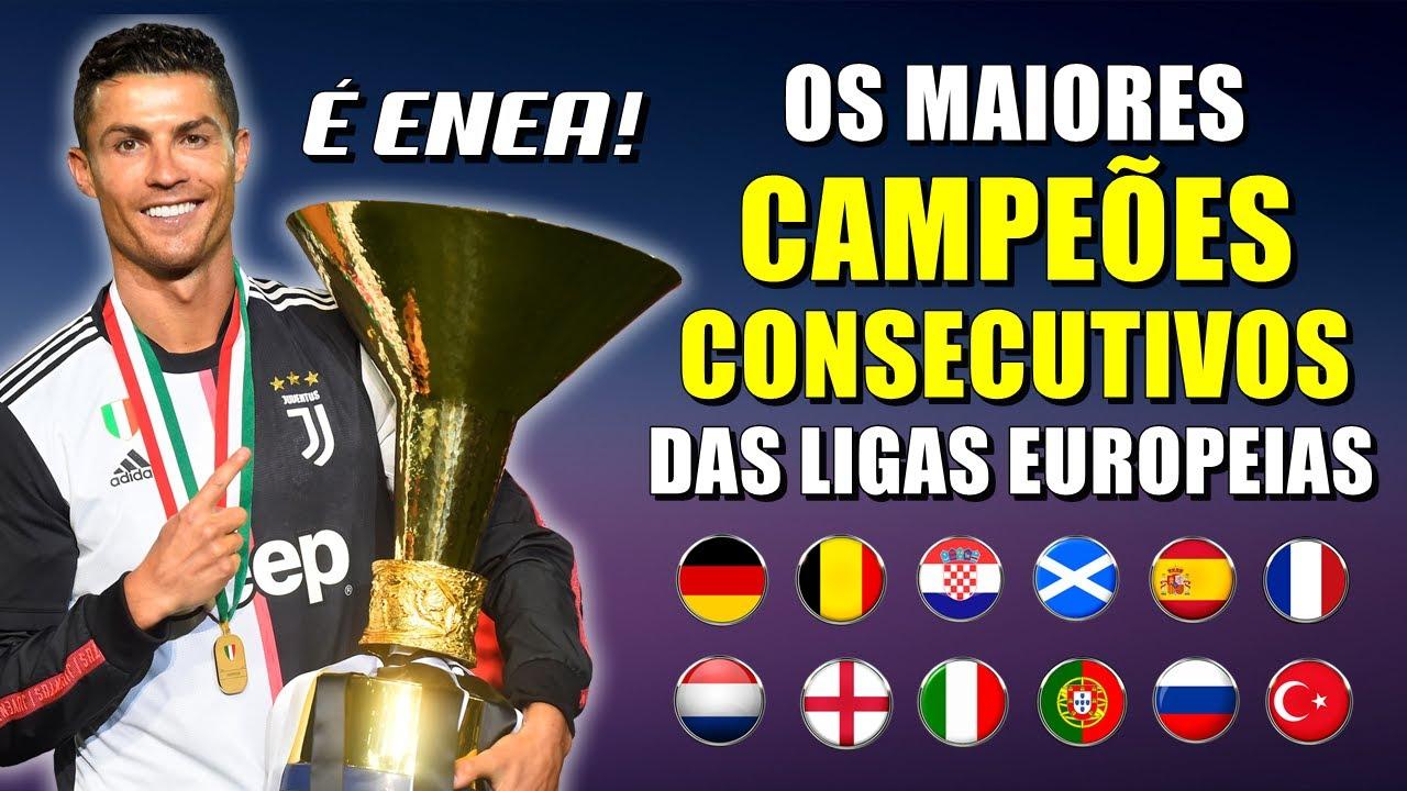 Os maiores CAMPEÕES CONSECUTIVOS nos principais campeonatos da EUROPA