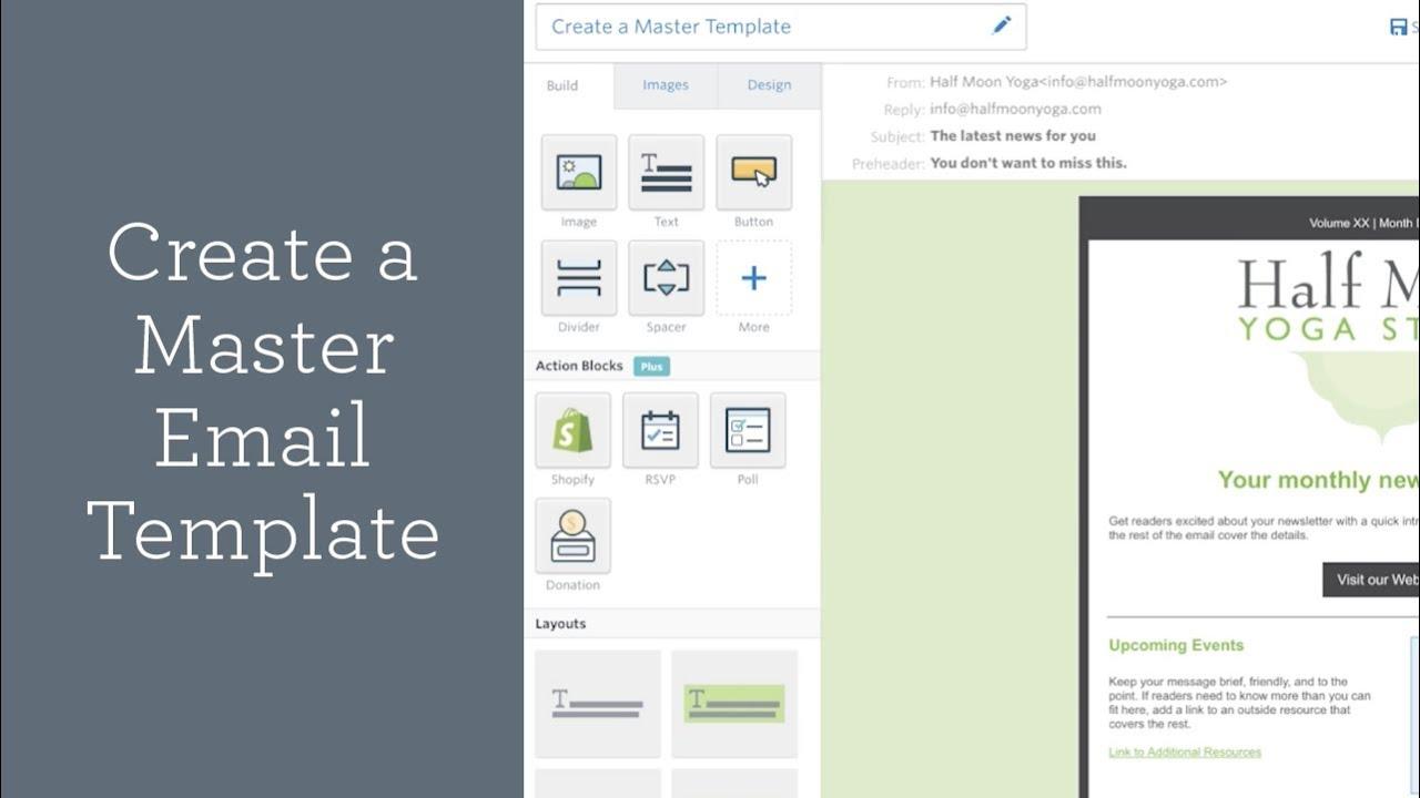 Constant Contact Templates | Create A Master Email Template Constant Contact Youtube