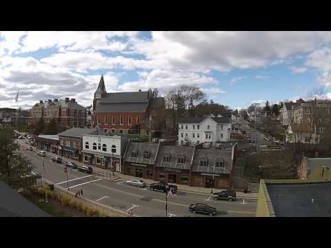 Downtown Marlborough MA Drone Flight