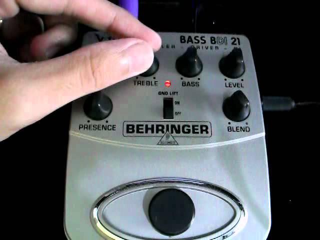 Behringer BDI 21 V-tone bass demo.wmv