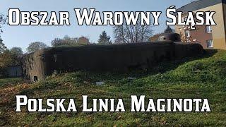 """Obszar Warowny """"Śląsk"""" - Polska Linia Maginota - Schrony nr. 20, 19, 18."""