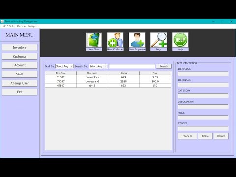 Pos Sales And Inventory Management System In Java Swing