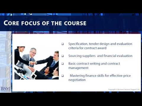 Procurement Training Courses -Best Practice Procurement Module 1 PREVIEW