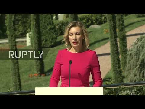 LIVE: Zakharova holds weekly briefing in Yalta