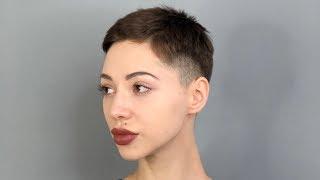 Очень креативная короткая женская стрижка, курс для парикмахеров