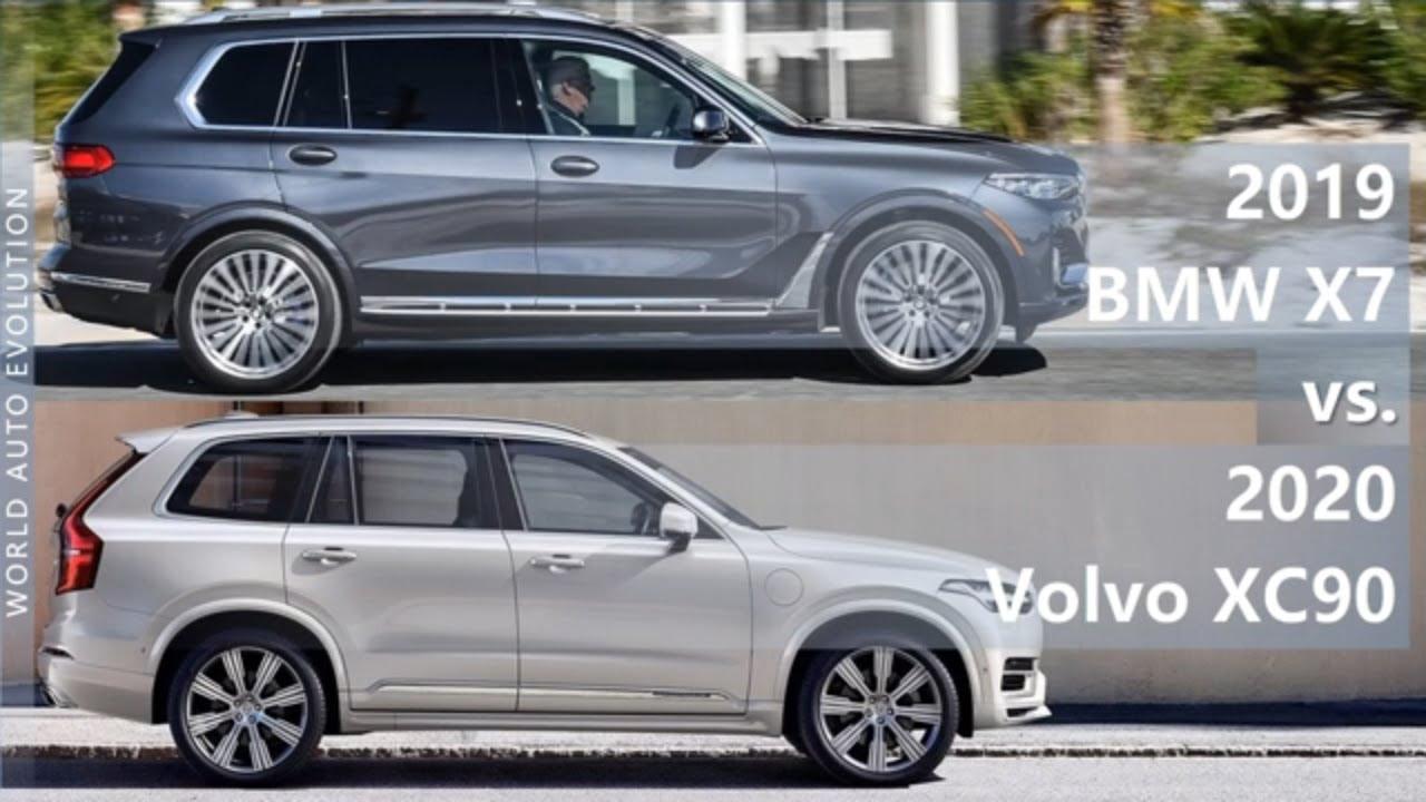 2019 BMW X7 vs 2020 Volvo XC90 (technical comparison ...