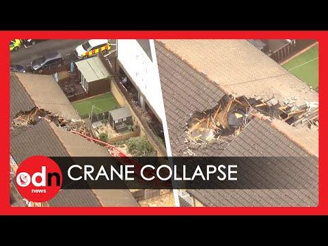 Crane Collapses onto