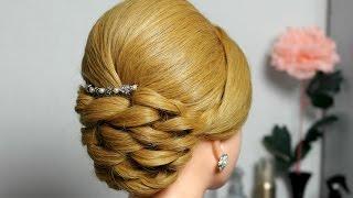 Свадебная, вечерняя прическа для средних волос.(, 2014-11-28T17:13:02.000Z)