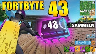 Fortnite Fortbyte 43 🍌 Nana Cape | All Fortbyte Places Season 9 Utopia Skin English
