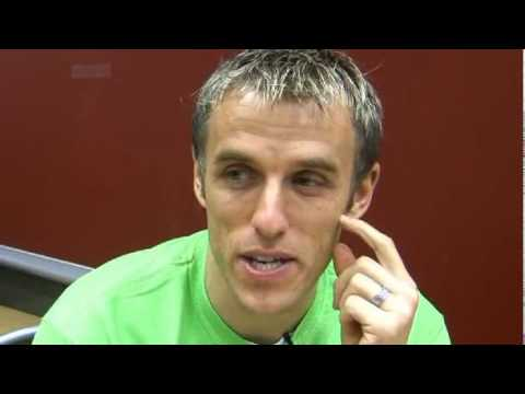 Phil Neville admits his six-year-old can do more keepie uppies than him!