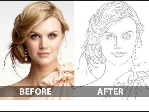 Photo To Line Art Converter Online : Photoshop tutorial convert photo to line drawing youtube