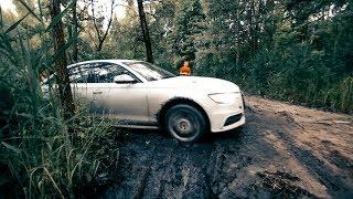 Audi A6 Едет Через Болото Вместе С Toyota Lc 200 , Pajero Sport , Nissan Patrol , Jeep Cherokee