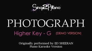 Video Photograph (Higher Key - Piano karaoke demo) Ed Sheeran download MP3, 3GP, MP4, WEBM, AVI, FLV Januari 2018