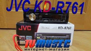 Автомагнитола JVC KD-R761EY. Распаковка и внешний вид.