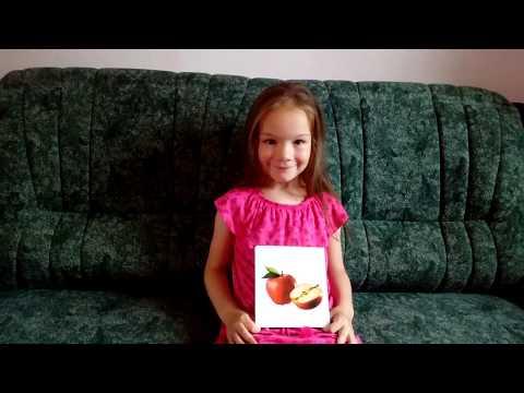 Выучить названия фруктов на английском с Кирой. Играть в загадки. Learn fruits on English