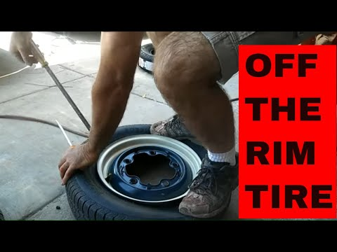 How to change a tire off the rim without tire machine